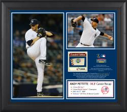 "Andy Pettitte New York Yankees Retirement Framed 15"" x 17"" 2-Photo Collage with Game-Used Ball - Limited Edition of 500"