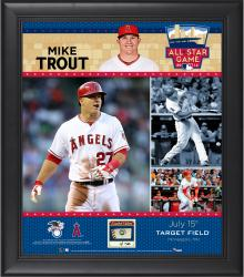 Mike Trout Los Angeles Angels of Anaheim 2014 MLB All-Star Game Framed Collage with Piece of Game-Used Baseball-Limited Edition of 50