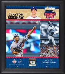 Clayton Kershaw Los Angeles Dodgers 2014 MLB All-Star Game Framed Collage with Piece of Game-Used Baseball-Limited Edition of 50