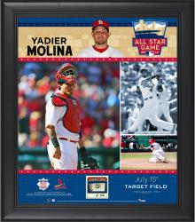 Yadier Molina St. Louis Cardinals 2014 MLB All-Star Game Framed Collage with Piece of Game-Used Baseball-Limited Edition of 50