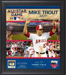 Mike Trout 2014 MLB All-Star Game MVP Framed Collage with Piece of Game-Used Baseball-Limited Edition of 50.