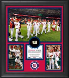 "Washington Nationals 2014 National League East Champions Framed 15"" x 17"" Collage with Game-Used Ball Limited Edition of 500"
