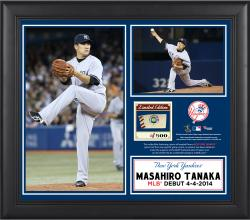 "Masahiro Tanaka New York Yankees MLB Debut Win Framed 15"" x 17"" Collage with Piece of Game-Used Ball"
