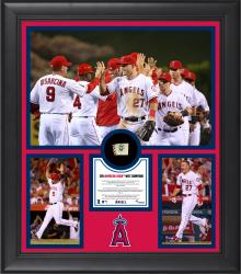 """Los Angeles Angels 2014 American League West Champions Framed 15"""" x 17"""" Collage with Game-Used Ball Limited Edition of 500"""