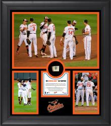 "Baltimore Orioles 2014 American League East Champions Framed 15"" x 17"" Collage with Game-Used Ball Limited Edition of 500"