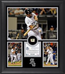 "Jose Abreu Chicago White Sox Franchise Rookie Home Run Record Framed 15"" x 17"" Collage with Game-Used Ball Limited Edition of 500"
