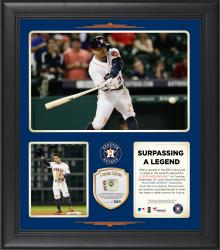 "Jose Altuve Houston Astros Single Season Hit Record Framed 15"" x 17"" Collage with Game-Used Ball Limited Edition of 500"