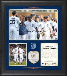 "Detroit Tigers 2014 American League Central Champions Framed 15"" x 17"" Collage with Game-Used Ball Limited Edition of 500"