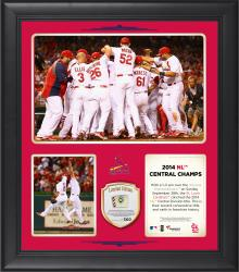 "St. Louis Cardinals 2014 National League Central Champions Framed 15"" x 17"" Collage with Game-Used Ball Limited Edition of 500"