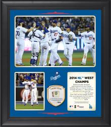 "Los Angeles Dodgers 2014 National League West Champions Framed 15"" x 17"" Collage with Game-Used Ball Limited Edition of 500"