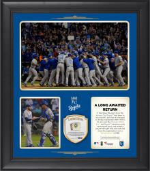 "Kansas City Royals 2014 Playoff Berth Framed 15"" x 17"" Collage with Game-Used Ball - Limited Edition of 500"