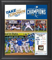 """Kansas City Royals 2014 American League Champions 15"""" x 17"""" Framed Collage with Game-Used Baseball - Limited Edition of 500"""