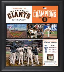 "San Francisco Giants 2014 National League Champions Framed 15"" x 17"" Collage with Game-Used Baseball - Limited Edition of 500"