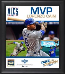 "Lorenzo Cain Kansas City Royals 2014 American League Champion MVP Framed 15"" x 17"" Collage with Game-Used Baseball - Limited Edition of 250"