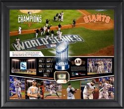 San Francisco Giants 2014 World Series Champions 15'' x 17'' Framed Collage with Piece of Game-Used World Series Baseball - Limited Edition of 500