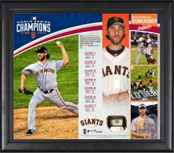 Madison Bumgarner San Francisco Giants 2014 World Series Champions 15'' x 17'' Framed Collage with Piece of Game-Used World Series Baseball - Limited Edition of 150