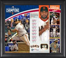 Pablo Sandoval San Francisco Giants 2014 World Series Champions 15'' x 17'' Framed Collage with Piece of Game-Used World Series Baseball - Limited Edition of 150