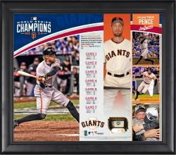 Hunter Pence San Francisco Giants 2014 World Series Champions 15'' x 17'' Framed Collage with Piece of Game-Used World Series Baseball - Limited Edition of 150