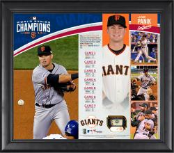 Joe Panik San Francisco Giants 2014 World Series Champions 15'' x 17'' Framed Collage with Piece of Game-Used World Series Baseball - Limited Edition of 150