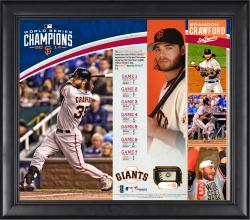 Brandon Crawford San Francisco Giants 2014 World Series Champions 15'' x 17'' Framed Collage with Piece of Game-Used World Series Baseball - Limited Edition of 150