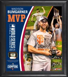 """Madison Bumgarner San Francisco Giants 2014 World Series Champion MVP Framed 15"""" x 17"""" Collage with Game-Used World Series Baseball - Limited Edition of 250"""