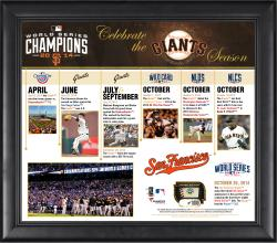 """San Francisco Giants Celebrate the 2014 Season Framed 15"""" x 17"""" Collage with Game-Used Baseball - Limited Edition of 1,000"""