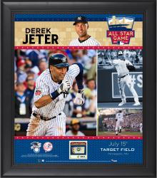 Derek Jeter New York Yankees 2014 MLB All-Star Game Framed Collage with Piece of Game-Used Baseball-Limited Edition of 100