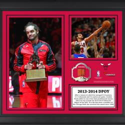 "Joakim Noah Chicago Bulls 2013-14 Defensive Player of the Year Winner Framed 15"" x 17"" Collage with Team-Used Ball-Limited Edition of 250"