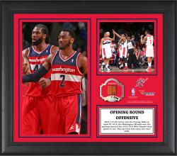 "Washington Wizards 1st Playoff Series Win Since 2005 Framed 15"" x 17"" Collage with Team-Used Ball-Limited Edition of 250"