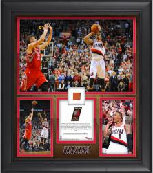 "Damian Lillard Portland Trail Blazers 1st Round Buzzer Beater Against the Houston Rockets Framed 15"" x 17"" Collage with Team-Used Ball-Limited Edition of 250"
