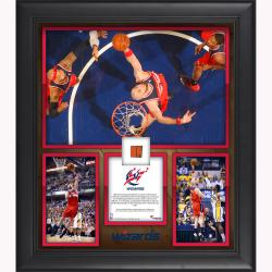 "Marcin Gortat Washington Wizards 30 Points 15 Rebounds 2014 Semifinals Game 5 Framed 15"" x 17"" Collage with Team-Used Ball-Limited Edition of 250"