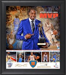 Kevin Durant Oklahoma City Thunder 2013-14 MVP Framed 15'' x 17'' Collage with Team-Used Ball-Limited Edition of 250 - Mounted Memories