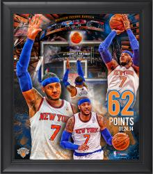 Carmelo Anthony New York Knicks Franchise Record 62 Points Framed 15'' x 17'' Collage - Mounted Memories