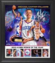 "Michael Carter-Williams Philadelphia 76ers 2013-14 ROY Framed 15"" x 17"" Collage"