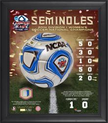"""Florida State Seminoles (FSU) Framed 15"""" x 17"""" Collage with A Piece of Game-Used Soccer Ball from the National Championship"""