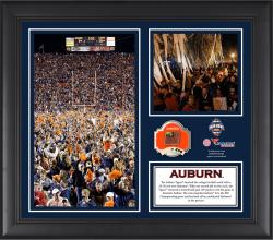 "Auburn Tigers Win Over Alabama Crimson Tide Framed 15"" x 17"" Horizontal Collage with Game-Used Football - Limited Edition of 250"