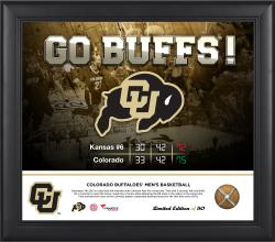 "Colorado Buffaloes Victory Against Kansas Jayhawks Framed 15"" x 17"" Collage with Piece of Game-Used Net-Limited Edition of 50"