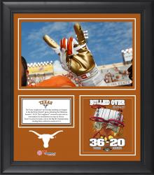 "Texas Longhorns Win Over Oklahoma Sooners Framed 15"" x 17"" Collage"