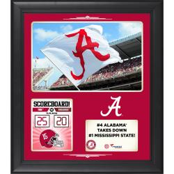 "Alabama Crimson Tide 2014 Win Over Mississippi State Bulldogs Framed 15"" x 17"" Collage"