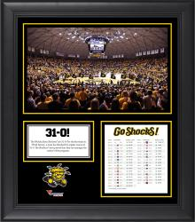 "Wichita State Shockers Perfect 31-0 Regular Season Framed 15"" x 17"" Core Collage"