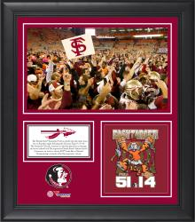 "Florida State Seminoles Win Over Clemson Tigers Framed 15"" x 17"" Collage"