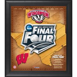 "Wisconsin Badgers 2014 Final Four Framed 15"" x 17"" Collage"