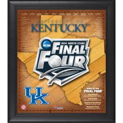 """Kentucky Wildcats 2014 Final Four Framed 15"""" x 17"""" Collage"""