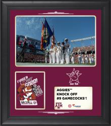 "Texas A&M Aggies 2014 Win over South Carolina Gamecocks Framed 15"" x 17"" Collage"