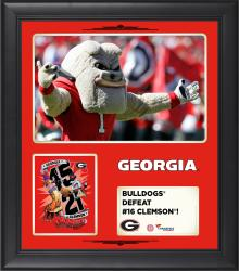 "Georgia Bulldogs 2014 Win Over Clemson Tigers Framed 15"" x 17"" Collage"