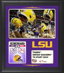 "LSU Tigers 2014 Win Over Wisconsin Badgers Framed 15"" x 17"" Collage"