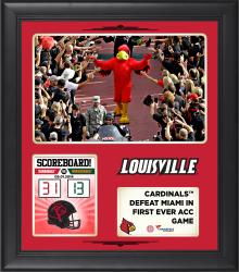 "Louisville Cardinals 2014 Win Over Miami Hurricanes Framed 15"" x 17"" Collage"