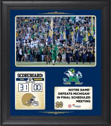 "Notre Dame Fighting Irish 2014 Win Over Michigan Wolverines Framed 15"" x 17"" Collage"