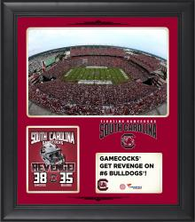 "South Carolina Gamecocks 2014 Win Over Georgia Bulldogs Framed 15"" x 17"" Collage"