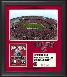 "South Carolina Gamecocks 2014 Win Over Georgia Bulldogs Framed 15"" x 17"" Collage"